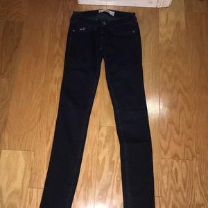 Hollister Dark Wash Super Skinny Jeans, Size 00